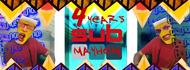 4 Years Of Subsonic Mayhem (flyer)