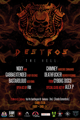 Destroy the hell (flyer)