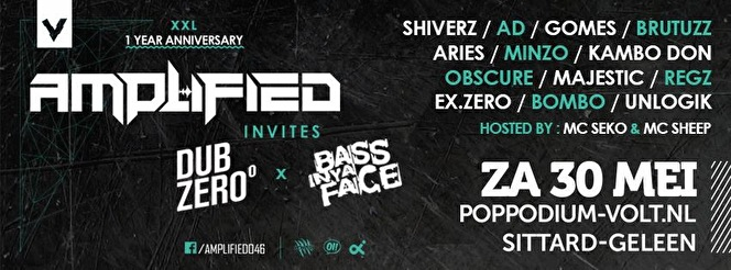 Amplified Invites Dub Zero × Bass In Ya Face - Tickets, line
