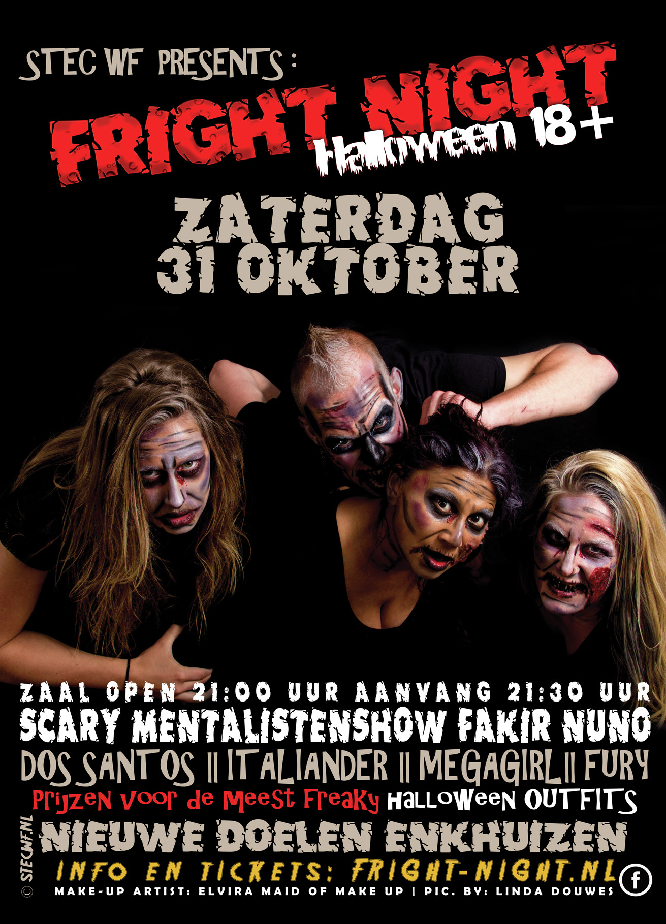 Halloween Friesland.Fright Night West Friesland Tickets Line Up Info