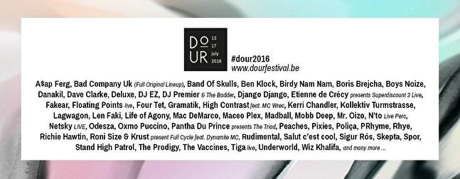 Dour Festival (flyer)