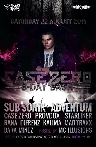 Case Zero Birthday Bash (flyer)