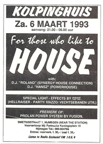 For Those Who Like To House (flyer)