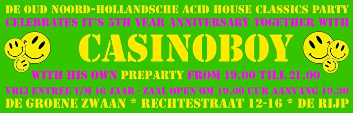 Pre-party Oud Noord-Hollandsche Acid House Classics Party (flyer)