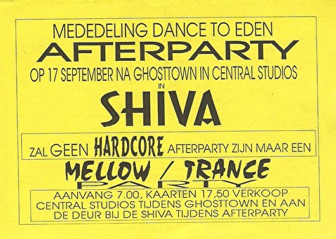 Ghosttown Afterparty (flyer)