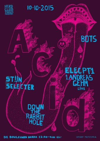 Nerd Club Zuid Acid (flyer)