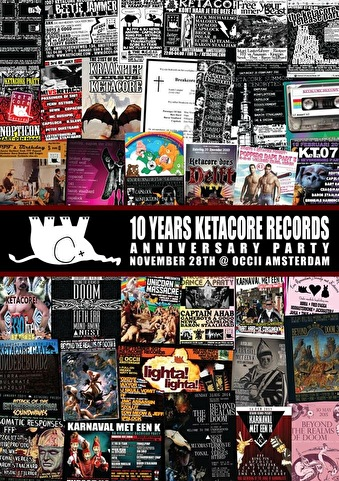 10 Years Ketacore Records (flyer)