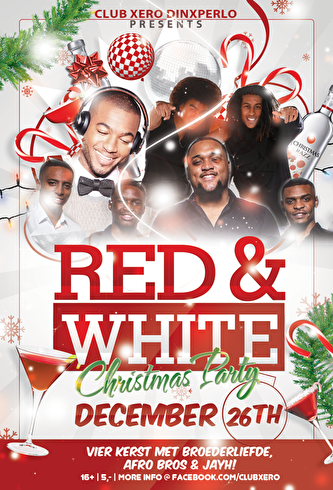 Red & White Chirstmas party (flyer)