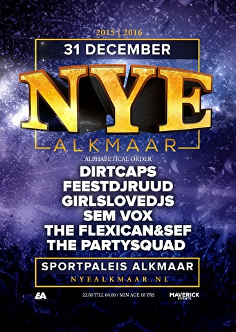 New Years Eve Alkmaar (flyer)