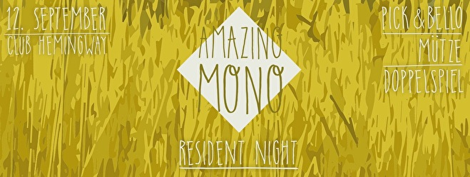 Amazing Mono Resident Night (flyer)