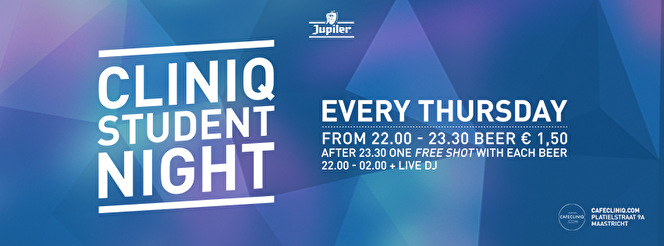 Cliniq Student Night (flyer)