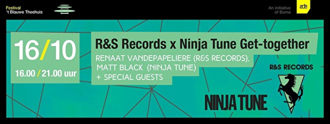 R&S Records × Ninja Tune Get-together (flyer)