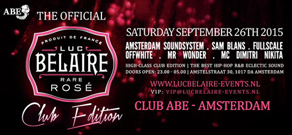 Luc Belaire Club Edition (flyer)