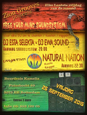 Free your mind soundsystem (flyer)