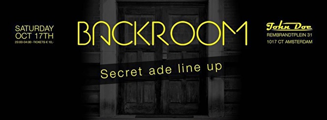 Backroom (flyer)