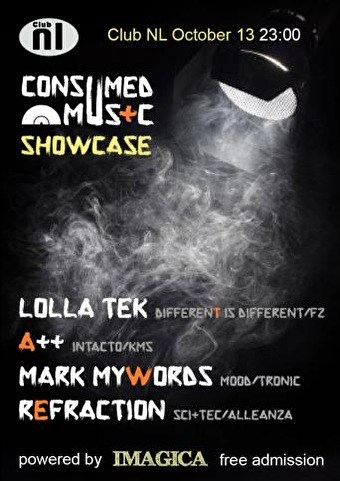 Consumed Music Showcase (flyer)