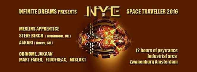 NYE Psychedelic Space Traveller (flyer)