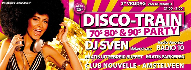 Disco-Train 70s 80s 90s Party (flyer)