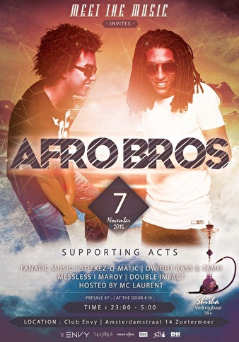 Meet the Music invites Afro Bros (flyer)