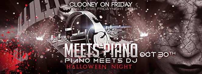 Clooney on Friday meets Piano (flyer)
