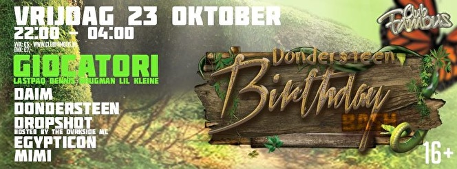 Dondersteen birthday bash (flyer)