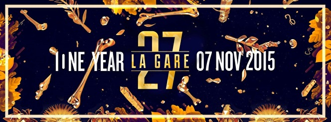 One Year La Gare 27 (flyer)