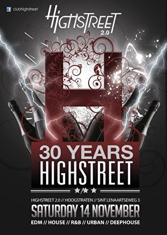30 Years Highstreet (flyer)