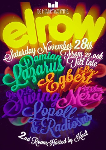 Elrow goes to Amsterdam (flyer)