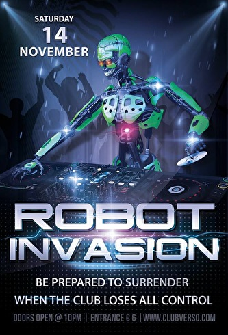 Robot Invasion (flyer)