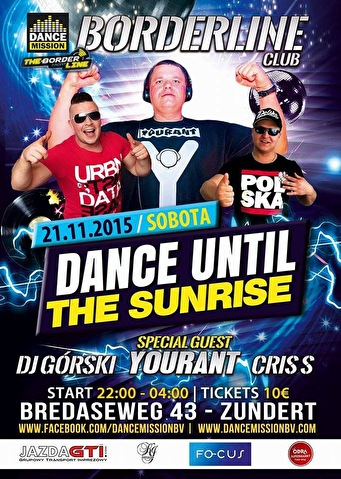 Dance Until The Sunrise (flyer)