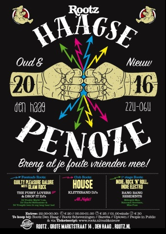 Haagse penoze 31 december 2015 rootz den haag evenement for Roots den haag