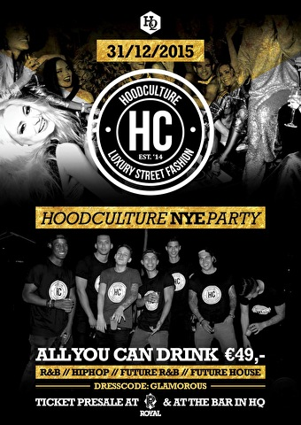 Hoodculture NYE Party (flyer)