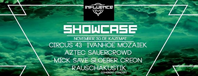 Influence Showcase (flyer)
