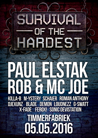 Survival of the Hardest (flyer)