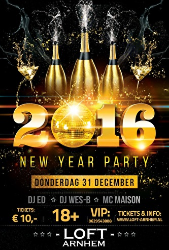 New Year Party 2016 (flyer)
