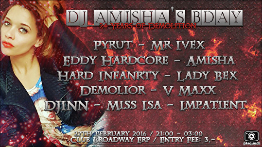 DJ Amisha's B -Day (flyer)