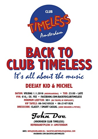 Back To Club Timeless (flyer)