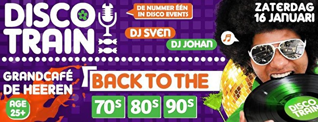 Disco-Train back to the 70s 80s 90s (flyer)