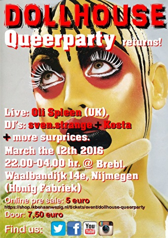 Dollhouse Queer Party (flyer)