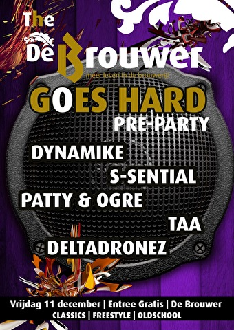 De Brouwer goes Hard preparty (flyer)