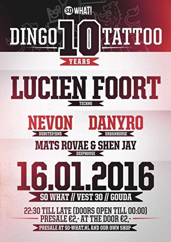 Dingo Tattoo (flyer)