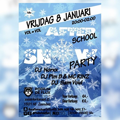 After School Snow Party (flyer)