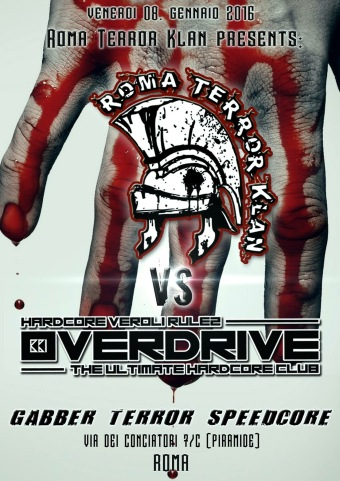 Roma Terror Klan Vs Overdrive (flyer)