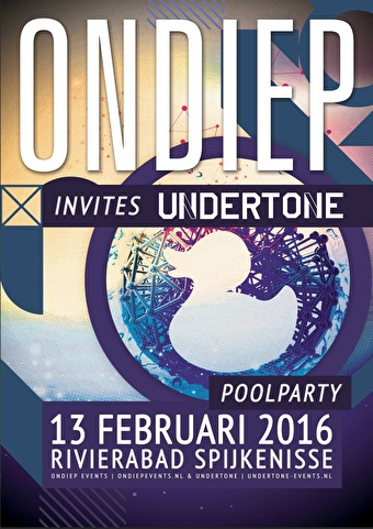 Ondiep Poolparty invites Undertone (flyer)
