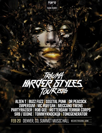 Trauma Harder Styles Tour (flyer)