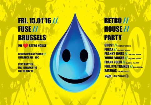 Retro House Party (flyer)