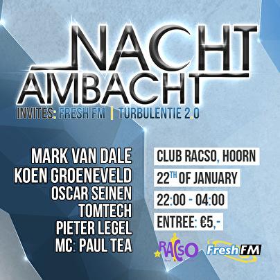 flyer Nachtambacht invites Freshfm