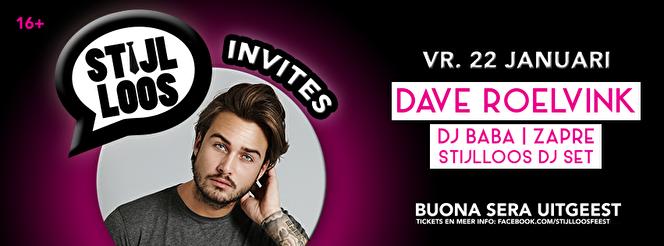 Stijlloos invites Dave Roelvink (flyer)