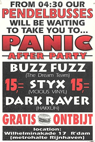 Panic After Party (flyer)