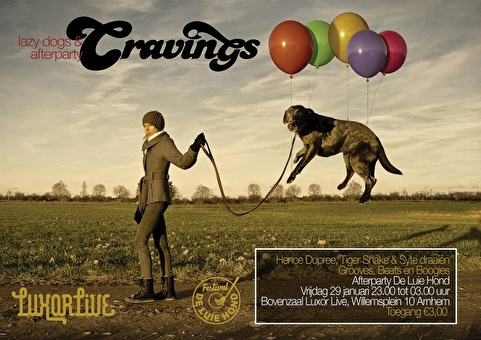 de Luie Hond afterparty van Cravings (flyer)